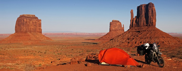 Campen im Monument Valley